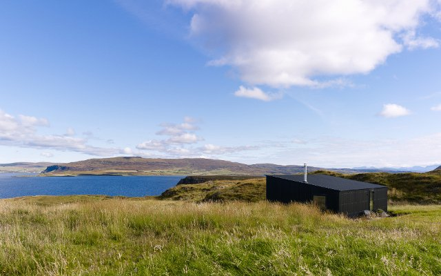 Views to Dunvegan Loch and Coral Beach at An Airigh Isle of Skye