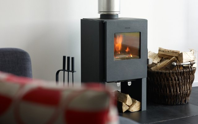Snuggle by the stove and views to Dunvegan Loch An Airigh Isle of Skye